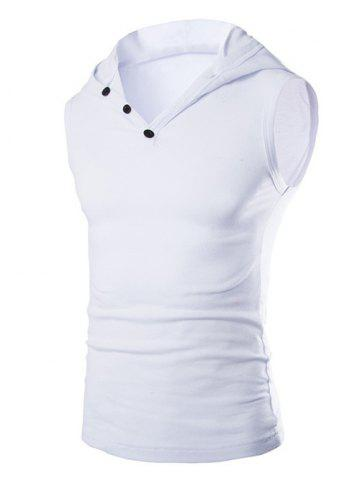 Casual capuche Solid Color Tank Top For Men