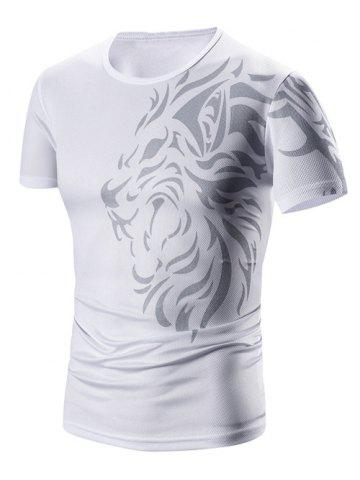 Outfits Round Neck Printed Short Sleeve T-Shirt For Men