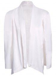 Stylish Shawl Collar Long Sleeve Furcal Women's Blazer -