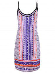 Fashionable Spaghetti Strap Printed Dress For Women