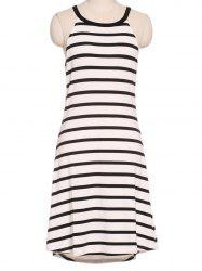 Refreshing Women's Striped Round Neck Tank Dress