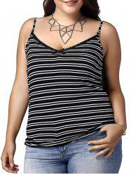 Striped Plus Size Camisole Tank Top -