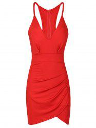 Sexy Backless Spaghetti Strap Solid Color Bodycon Dress For Women -