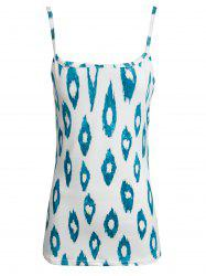 Stylish Spaghetti Strap Printed Loose Tank Top For Women