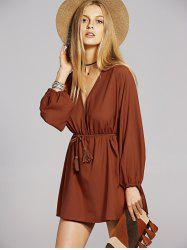 Bohemian Long Sleeve Casual Tunic Dress -