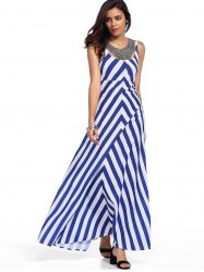 Women's Stylish Sleeveless Zig Zag Tank Dress(Without Necklace)