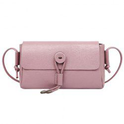 Simple Solid Color and Cover Design Crossbody Bag For Women -