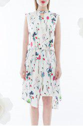 Hollow Out Print Dress -