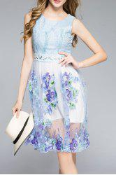 Sleeveless Embroidered Sun Dress -
