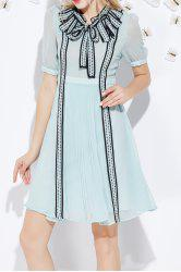 Bowknot Pleated A Line Dress -