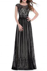Lace Floor-Length Prom Dress -