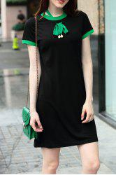 Self Tie Mini T-Shirt Dress -