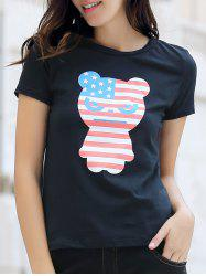 Cartoon Panda Print T-Shirt
