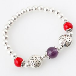 Cute Fishes Beads Bracelet For Women - SILVER