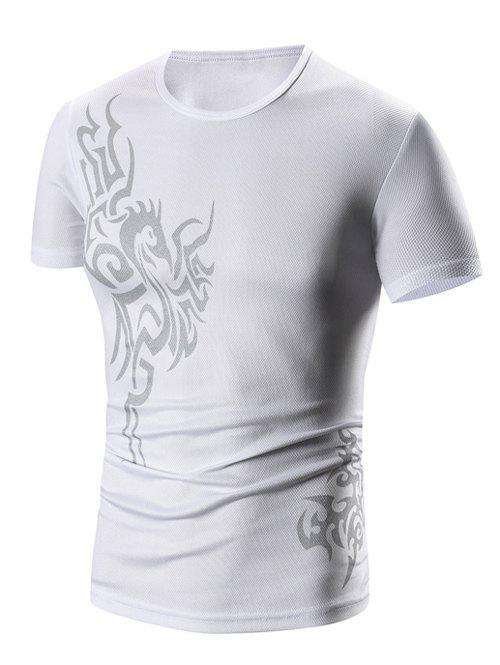 New Round Neck Print Short Sleeve T-Shirt For Men