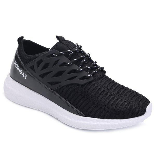 Shops Stylish Hollow Out and Splicing Design Athletic Shoes For Men