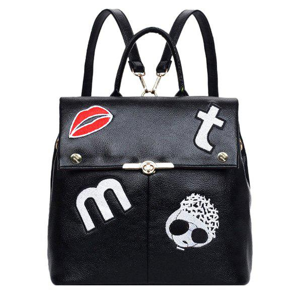 Trendy Fashion Embroidery and Cover Design Satchel For Women
