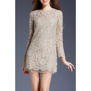 Mini Lace Long Sleeve Dress