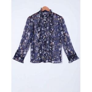 Elegant Printed Chiffon Shirt For Women