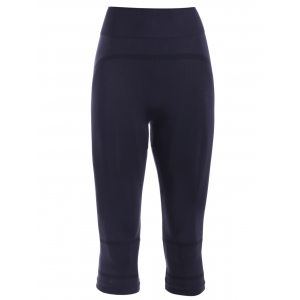 Active Elastic Waist Women's Black Cropped Leggings