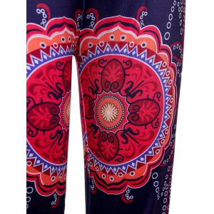 Ethnic Style Elastic Waist Floral Print Exumas Pants For Women - COLORMIX XL