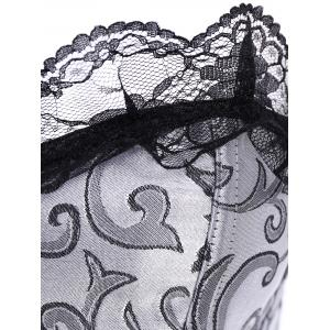 Retro Style Strapless Jacquard Lace Embellished Corset For Women -
