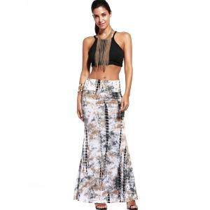 Ethnic Style Tie-Dyed Maxi Skirt For Women - COLORMIX 3XL