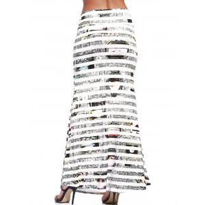 Chic Striped Long Casual Skirt For Women -