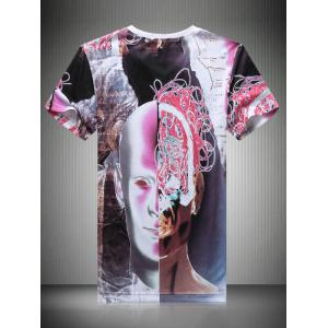 Casual Face Printing T-Shirt For Men -