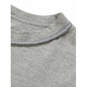 Solid Color Loose Half Sleeves T-Shirt For Men -
