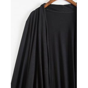 Fashionable Collarless Long Sleeve Pure Color Asymmetrical Women's Blouse -