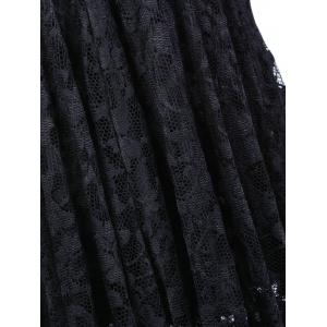 Sweetheart Lace Backless A Line Short Formal Dress - BLACK M