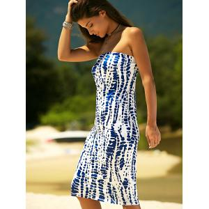 Printed Bodycon Boob Tube Dress -