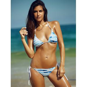 Refreshing Women's Halter Striped Bikini -