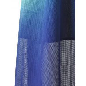 Long Ombre Backless Slip Prom Dress - DEEP BLUE S