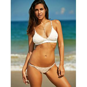 Stylish Strappy Crochet Bikini Set  For Women -