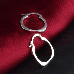 Pair of Stylish Cut Out Calabash Handcuffs Shape Hoop Earrings -