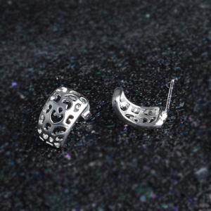 Pair of Stylish Cut Out Arch Stud Earrings -