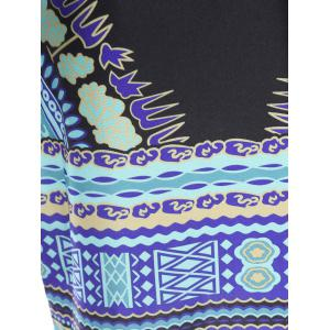 Long Sleeve Printed Bodycon Dress - COLORMIX L