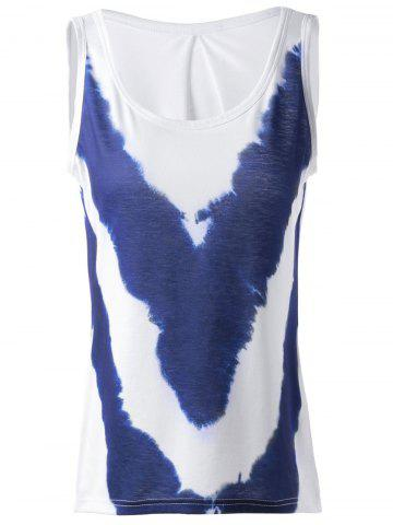Latest Fashionable Loose-Fitting Simple Scoop Neck Sleeveless Printing T-shirts For Women