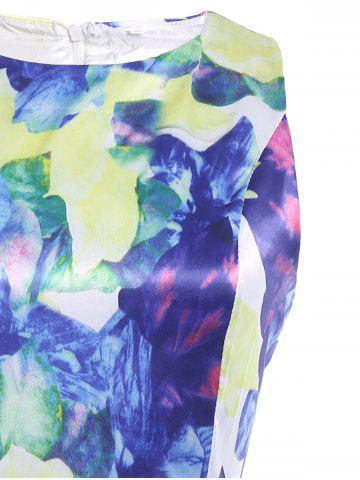 Cheap Floral Print Sleeveless Romper - S COLORMIX Mobile