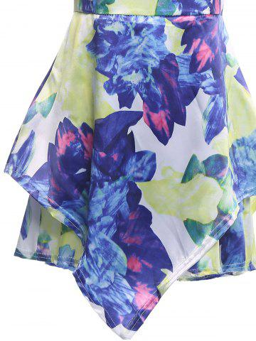 Sale Floral Print Sleeveless Romper - S COLORMIX Mobile