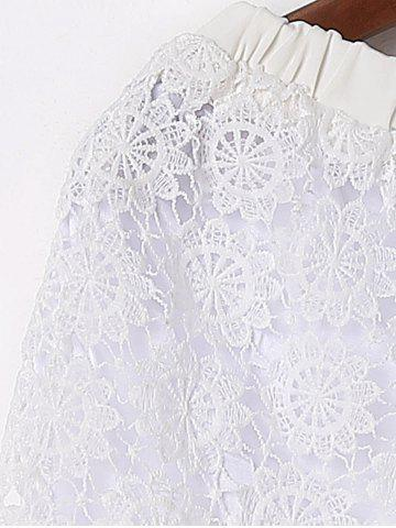 Shops Sexy Fringed Flowy Lace Shorts - M WHITE Mobile