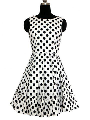 Store Refreshing Women's Polka Dot Pleated Dress