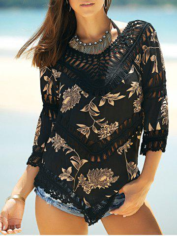 Best Stylish V-Neck Printed Crochet Top For Women