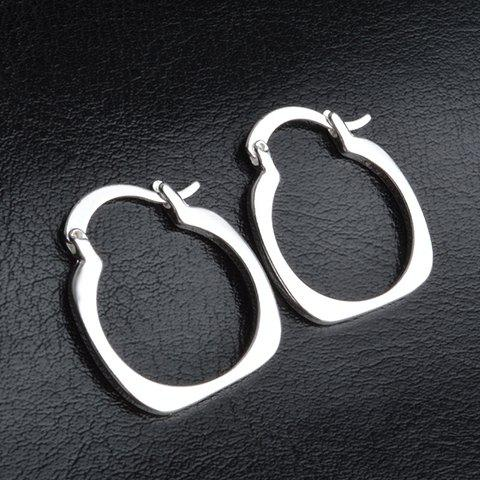 Sale Pair of Stylish Cut Out Calabash Handcuffs Shape Hoop Earrings