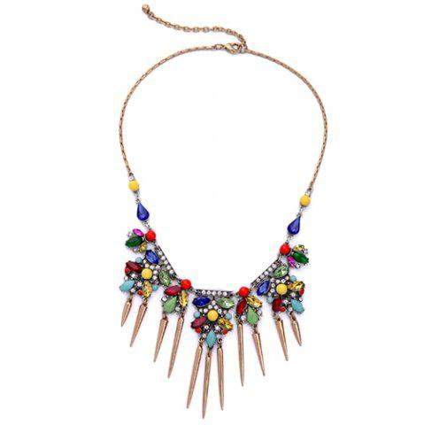 Fashion Vintage Faux Crystal Rivets Necklace For Women
