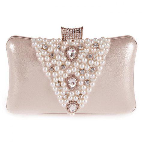 Shop Gorgeous Rhinestone and Faux Pearl Design Evening Bag For Women