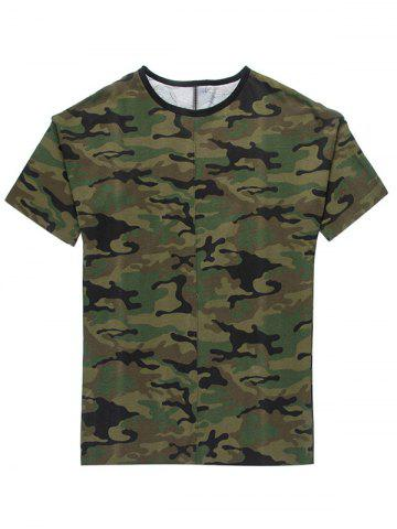 Store Fashion Loose Fit Camo T-Shirt For Men