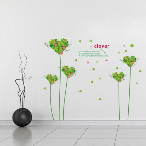 Best Hot Sale Sweet Love Clover Removeable Wall Stick